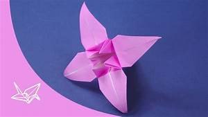 Origami Blumen Falten : origami blume faltanleitung youtube ~ Watch28wear.com Haus und Dekorationen