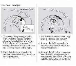 2005 Accord 4 Door Headlight Bulbs Honda Tech Honda