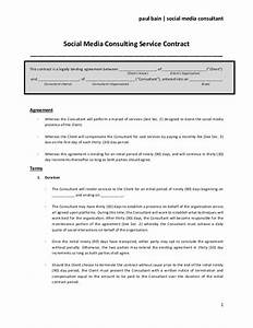 social media consulting services contract With marketing consultant contract template