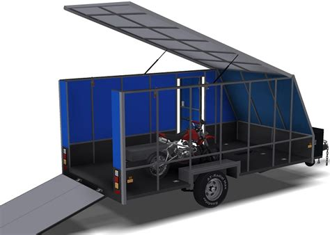 4m Enclosed Motorbike Trailer Plan