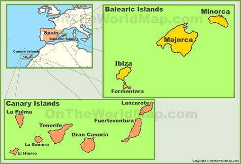 Spanish Islands Maps List Of Islands In Spain