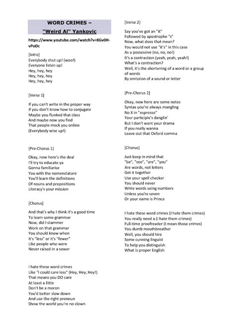 1 788 free esl songs for teaching english worksheets