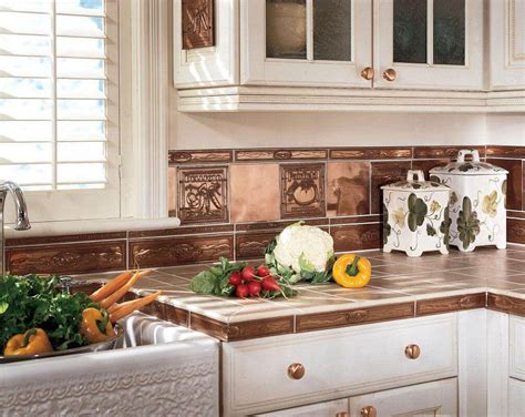 copper backsplash tiles designs cabinet hardware room