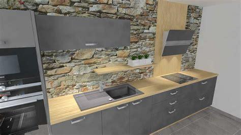 cuisine avec plan de travail en bois cuisine grise plan de travail bois newsindo co