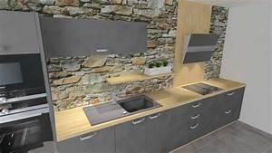 Plan De Travail Gris Anthracite : cuisine grise plan de travail bois ~ Dailycaller-alerts.com Idées de Décoration
