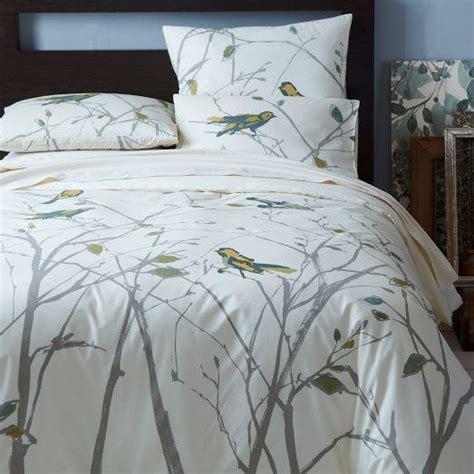 cubist bird duvet cover shams west elm