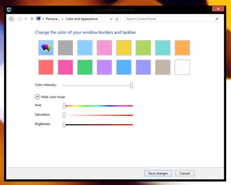 How Do I Change The Dialog Box Title Color In Windows 8