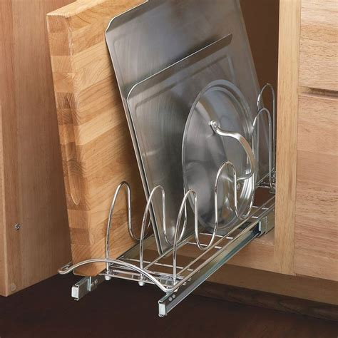 pull out trays for kitchen cabinets lynk professional lid storage slide out tray 9182