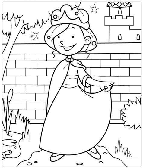 Jonkvrouw Kleurplaat by Prinses In De Kasteeltuin Een Knutselwerkje Voor Jou