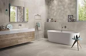 Beton Ciré Salle De Bain Sur Carrelage : 10 carrelages de salle de bain dans des tons gris carrelage ~ Preciouscoupons.com Idées de Décoration