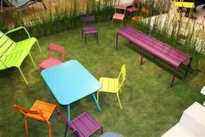 Mobilier De Jardin Fermob : chaise enfant luxembourg kid aluminium turquoise fermob ~ Dallasstarsshop.com Idées de Décoration