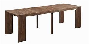 Table Console Extensible Bois : console extensible en table repas extenso deluxe bois noyer 12 couverts comparer les prix de ~ Teatrodelosmanantiales.com Idées de Décoration