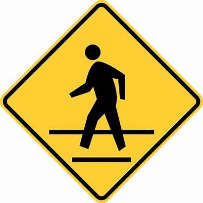 Crosswalk Pedestrian Safety Sign Signs Crossing Svg