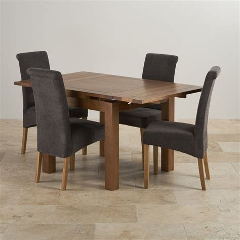 Rustic Dining Set by Rustic Oak Dining Set 3ft Extending Table 4 Scroll Back