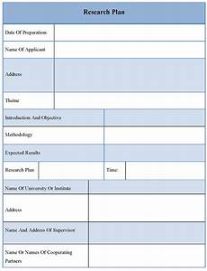 Plan Template For Research  Template Of Research Plan