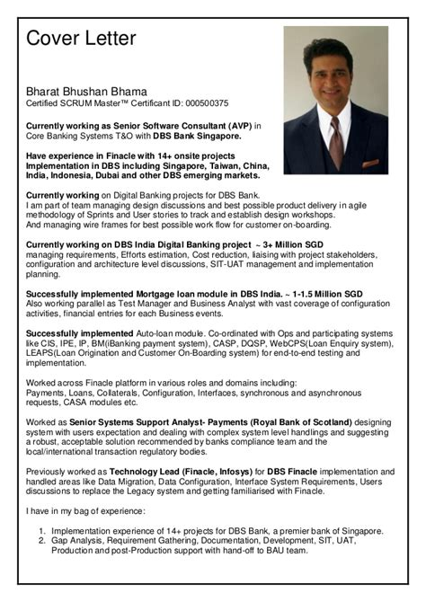 certified scrum master sle resume bharatbhushanbhama resume
