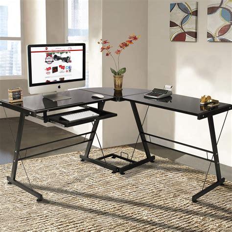 paisley home office computer desk l shape computer desk pc glass laptop table workstation