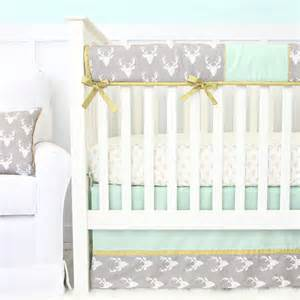 woodlands deer crib bedding set by caden rosenberryrooms