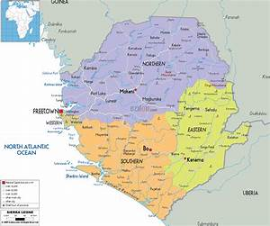 Large Detailed Administrative Map Of Sierra Leone With All