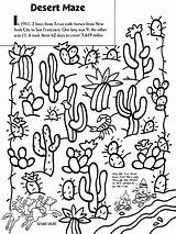 Desert Coloring Pages Maze Crayola Cactus Landscape Western Google Printable Sheets Drawing Biome Texas Boys River Animals Colouring Deserts Cacti sketch template