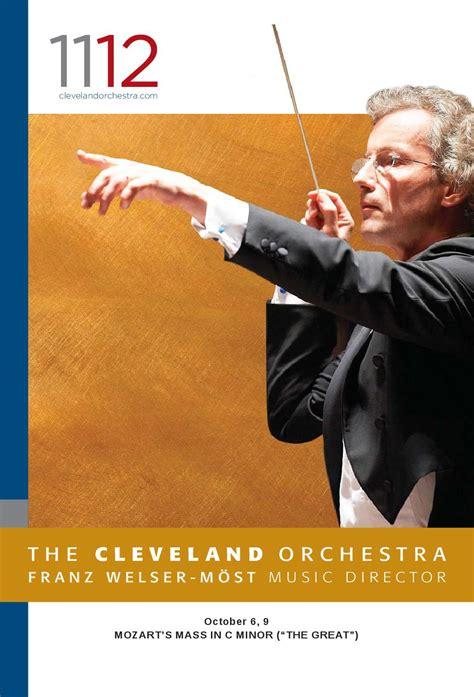 cleveland orchestra october     publishing