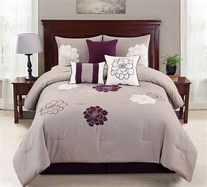 Empire, Home, Province, 7, Piece, Purple, U0026, Gray, Oversized