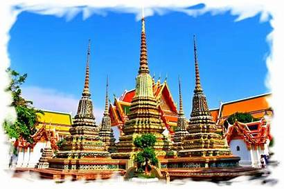 Buddha Bangkok Pho Wat Reclining Temple Thai
