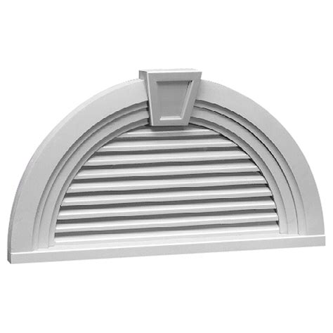 36 w x 18 h half round louver with decorative trim and