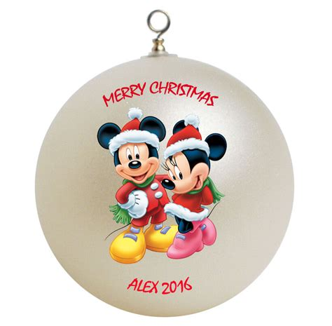 personalized mickey mouse minnie mouse christmas