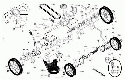 Husqvarna Parts Lawn Mower Diagram Walk Propelled