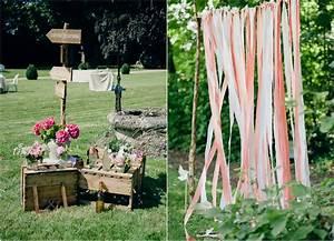Mariage Theme Champetre : mariage champetre chic paris ceremonie laique chateau bois ~ Melissatoandfro.com Idées de Décoration
