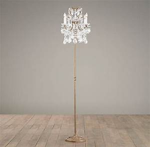 manor court crystal 4 arm floor lamp aged gold With 4 arm chandelier floor lamp