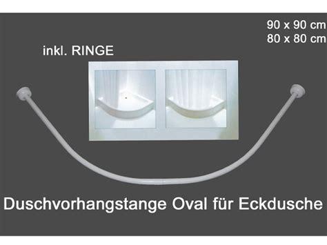 Duschvorhang Für Eckdusche by Duschvorhang Stange Oval In Wei 223 Eckbadewanne Viertelkreis