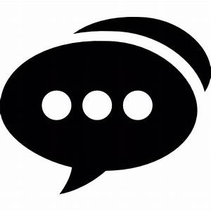 Speech bubble with three dots - Free social icons