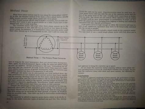 Rotary Phase Converter Designs Plans