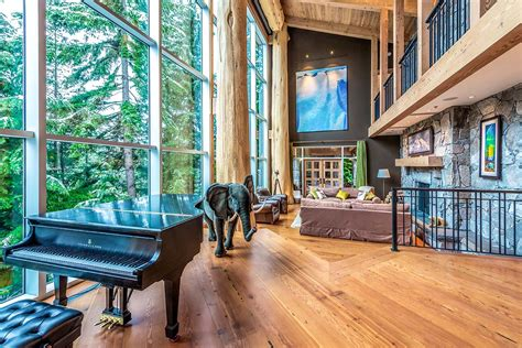 spectacular whistler cedar log  stone mountain chalet idesignarch interior design