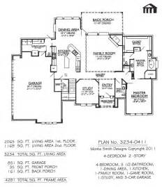 house plans on line 3234 0411 square 4 bedroom 2 story house plan
