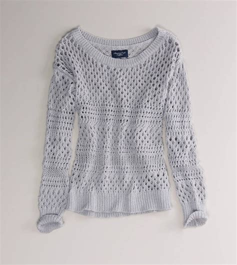 eagle sweater ae open knit shimmer sweater from