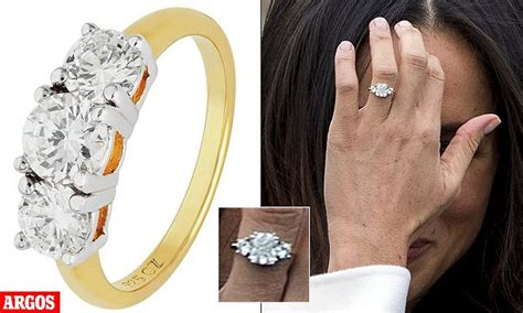 meghan markle s engagement ring looks like argos sparkler daily mail online