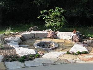 Types of backyard fire pit ideas to suit different for Functional rounded garden stones firepit backyard