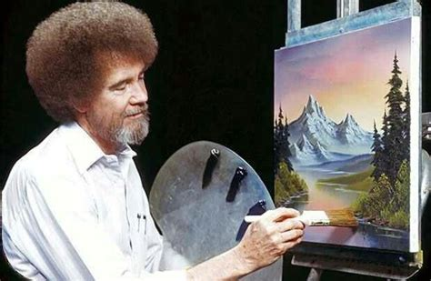 Bob Ross And His Happy Little Trees!