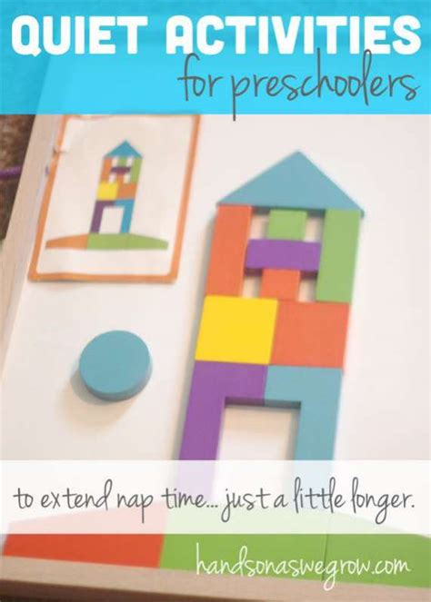 time activities for preschoolers 559 | quiet activities