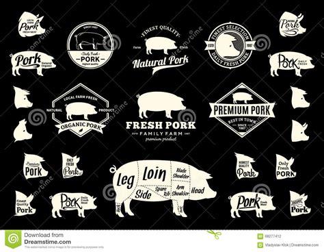 vector pork logo icons charts  design elements stock vector image