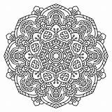 Mandala Coloring Trippy Dot Pencil Paisley Adult Dots sketch template