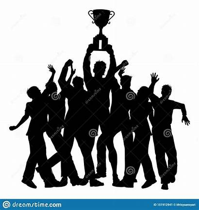 Trophy Silhouette Clipart Team Clip Success Champions