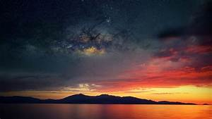 Corsica, Abstract, Space, Water, Sea, Sunset, Wallpapers, Hd