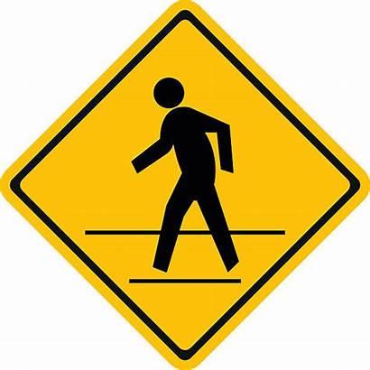 Pedestrian Sign Crosswalk Vector Crossing Walk Traffic