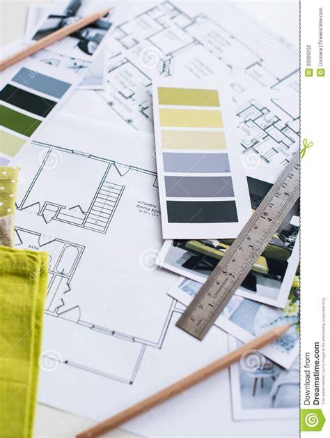 interior fabrics okc plan interior designers working table stock photo image 59300252