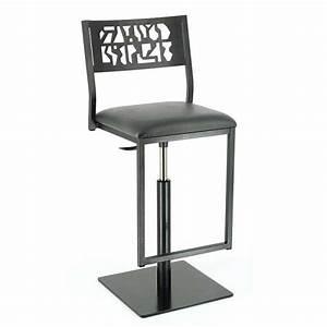 Pied De Bar Reglable : tabouret moderne en m tal hauteur r glable style industriel slide 4 pieds tables chaises ~ Teatrodelosmanantiales.com Idées de Décoration