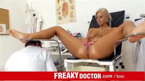 naked blonde patient examined by her doctor blonde porn